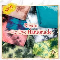 Bahan Kain rayon premium hand made tiedye tyedye potongan 3.2 meter A
