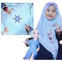 Hijab segiempat printing karakter lucu + hijab anak + jilbab anak