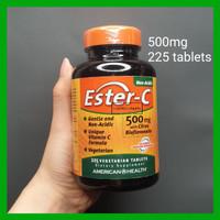 Ester C 500mg 225 tablet non acid american health bukan gnc buffered