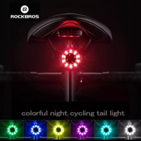 Rockbros Q1 Led Belakang - Rockbros Tail Light Led Q1 RGB Rechargeable