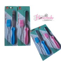 2 pcs kitchen tools set Spatula Halus + Kuas Silikon