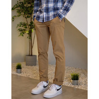 Celana GAP Slim Fit Stretch Chino Pants Brown Original