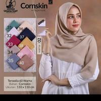 Hijab segi empat Umama cornskin lasercut jilbab instan scarf polos
