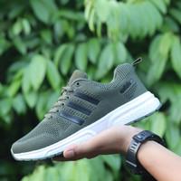 Adidas Climacool II / Green Army Running Olahraga / Sepatu Adidas Pria