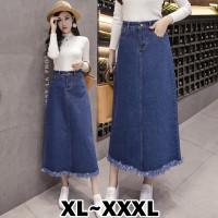 6310 Bigsize XL/XXL/XXXL Isabelle Denim Long Skirt/Rok Panjang/Maxi