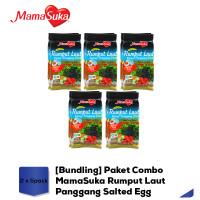 [Bundling] Paket Combo MamaSuka Rumput Laut Panggang Salted Egg - 5pak