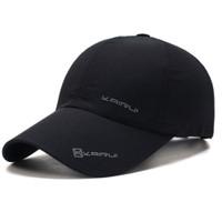 Topi Baseball visor sport Fashion Hat - Dark Grey