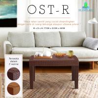 Meja Tamu Plastik Olymplast OST-R Motif Rotan