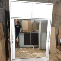 lemari sliding 2 pintu lemari full cermin