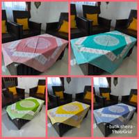 Taplak Meja Batik Tamu Kotak Printing