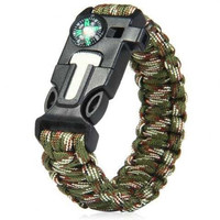 GELANG SURVIVAL PARACORD SURVIVAL BRACELET GELANG OUTDOOR 5 IN 1