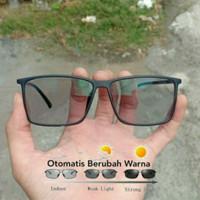 Paket Kacamata + Lensa photocromic berubah warna Normal/Minus/Silinder