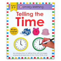 Priddy Learning Telling the Time Wipe Clean Activities Book With Pen