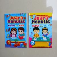 Buku Anak TK SD kelas 1 Juara Menulis Huruf dan Kata, menulis abjad