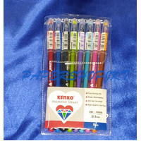 KENKO Diamond Gel Pen - DM-100S8 Warna Warni [ 1 SET ]