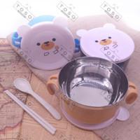 Stainless Steel Lunch Box Ear Mug Beruang Alat Makan Kotak Makan Bekal