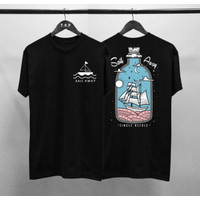 Kaos Distro Sail Away Cotton Combed 30S / Atasan / T-Shirt Pria Sablon