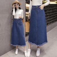 6310 Isabelle Denim Long Skirt/Rok Panjang Wanita/Maxi Skirt