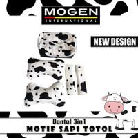 Bantal Mobil 3in1 MOTIF SAPI TOTOL / Bantal Boneka 3 in 1 MOTIF HEWAN