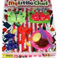 Mainan Kitchen Set Ikan Kepiting Seafood potong My Little Chef