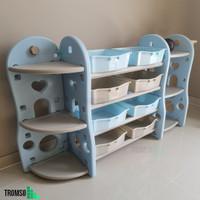 Tromso ~ Children Toy Rack / Rak Penyimpanan Mainan Anak / Rak Serbagu