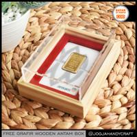 GRATIS GRAFIR - Kotak Mahar Seserahan Tempat Emas Antam Kayu Akrilik