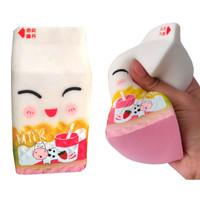 Mainan Squishy MILK Model Slow-Rising Bahan PU Elastis Bentuk SUSU