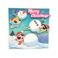 Powerpuff Girls 3D Christmas Card / Kartu Natal