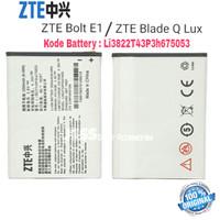 Baterai Original ZTE Blade Q Lux / Bolt E1 4G LTE / Li3704T42P3h675053