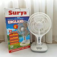 Surya England kipas angin + emergency Led 7 inch + power bank