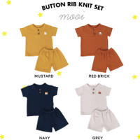Setelan Anak Button Rib Knit Set Mooi