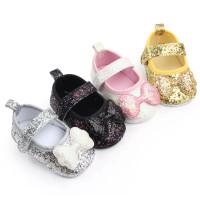 Sepatu prewalker untuk bayi anak perempuan glitter pita