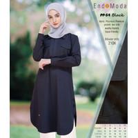 BLOUSE MUSLIMAH ENDOMODA PP 54 BLACK