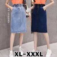 6228 Bigsize XL/XXL/XXXL Samantha Denim Skirt/Rok Midi Jeans/MidiSkirt