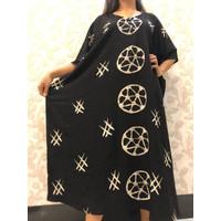 Daster Batik Pekalongan/ Baju Tidur/ Wanita/ Hitam