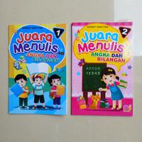 Buku Anak TK SD kelas 1 Juara Menulis Angka dan Bilangan