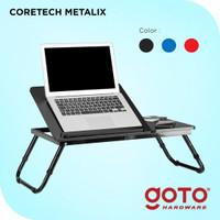 Coretech Metalix Meja Laptop Lipat Portable Belajar Serbaguna