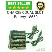 Charger AWT 2A Slot Baterai Dekstop iFOX Vape Battery 18650 Authentic
