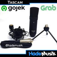 Tascam TM80 TM-80 TM 80 Condenser Microphone XLR Canon Black Hitam