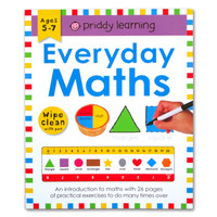 Priddy Learning Everyday Maths Wipe Clean Activities Book With Pen