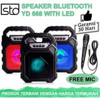 Speaker Bluetooth YD 668 Free Mic -Wireless LED Karaoke Subwoofer Bass