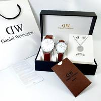 Jam Tangan Couple Dw Wd Daniel Wellington Free Set + Box Dw