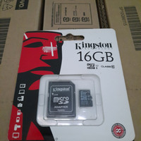 Memory Card Micro SD 16GB Kingston Class 10 UHS 1 Kingston Original