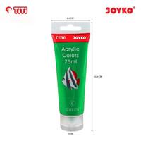 Acrylic Color Cat Akrilik Joyko TiTi ACC-75ML-6 Green Color Warna