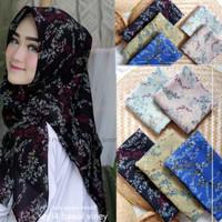 hijab jilbab kerudung segiempat motif CARNATION bahan viney japan