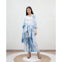 Shibori Outer White Blue