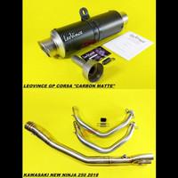 Knalpot Leovince GP Corsa Carbon Fullsystem Kawasaki New Ninja 250 18