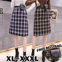 831 Bigsize XL/XXL/XXXL Irene Skirt/Rok Midi motif Kotak