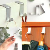 Gantungan Hook BESI Stainless Steel Portable Pintu Laci Tanpa Paku 1pc