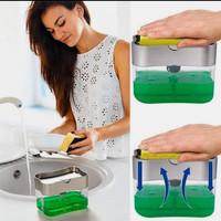 Tempat Dispenser Sabun Cuci Piring Tempat Spon Cuci Piring Pompa